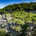 The view of the gorge and Twin Falls from the overlook is beautiful, but paradise waits in the gorge.- Hidden Gems in Tennessee's Beautiful State Parks