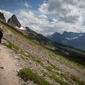 Ascending the Garden Wall.- Glacier National Park