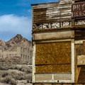 Building remains in the ghost town of Rhyolite.- Nevada's Best Adventures Off the Beaten Path