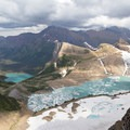 View from the Garden Wall to Grinnell Glacier.- Glacier National Park