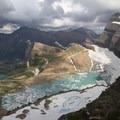 View of Grinnell Glacier from atop the Garden Wall.- 6 Epic Hikes in Glacier National Park
