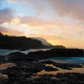 Lumaha'i Beach winter sunset on Kauai.- Hawai'i's Best Beaches