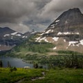 Bearhat Mountain towering over Hidden Lake.- Best Hikes to See Mountain Goats