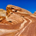 Amazing geology along Fire Wave Trail in Valley of Fire State Park.- 11 Best Day Hikes Near Las Vegas
