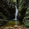 Bailey Falls, an off-trail waterfall near Margarette Falls Trail. - 15 Amazing Tennessee Adventures