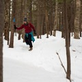 The quick hike to Deer Leap Rock winds through a snowy forest, leading to a rocky outcropping with incredible views of nearby mountains.- Vermont's 10 Best Winter Adventures