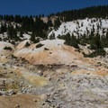 Bumpass Hell's mineral-infused soils take on a range of colors.- Lassen Volcanic National Park
