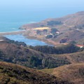 Looking down over Rodeo Beach and Rodeo Lagoon from Hawk Hill in the Marin Headlands.- California's Best Beaches