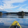 View to Mount Constitution from Sucia Island.- Kayaking in the San Juan Islands