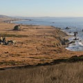 Vista south overlooking Sonoma Coast State Park's Kortum Trail. The trail can be seen running parallel to the bluff's edge.- Best Hikes on the Northern California Coast