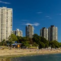View of the city from English Bay.- Vancouver B.C.'s Best Beaches + Swimming Holes