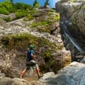 The base of Roaring Brook Falls is easily accessed.- Incredible Adirondack Hikes Below 4,000 Feet