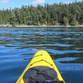 Obstruction Island paddle.- Paddling the West