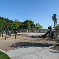 The playground in Golden Gardens Park.- Adventure in the City: Seattle