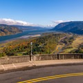 View from Vista House to the Columbia River Gorge.- Crown Point Vista House