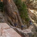 Pretty soon the Hidden Canyon Trail gets more precarious.- 4 Tips to Help You Prepare for Zion National Park