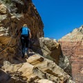 The chains are REALLY usefull in some spots. Hidden Canyon Trail.- A Complete Guide to Hiking in Zion National Park