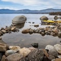 Brockway Hot Springs sits just above the shoreline on the north side of Lake Tahoe.- Hot Springs Near Reno and Lake Tahoe