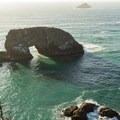Arch Rock casts a long shadow late in the day.- Samuel H. Boardman State Scenic Corridor