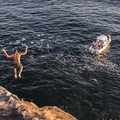 Cliff jumping at Juniper Point, Lighthouse Park.- 7 Days of Adventure out of North Vancouver, B.C.