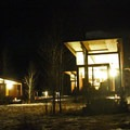 The Rolling Huts in the Methow Valley are aglow at night.- Washington's Best Winter Destinations
