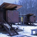 An example of the stilted construction of the Rolling Huts.- Washington's Best Winter Destinations