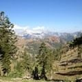 View west from Seven Up Pass.- Hiking in the Trinity Alps