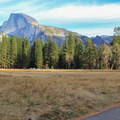 Riding through Cook Meadow with Half Dome above.- 3-Day Itinerary for Yosemite National Park