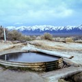 Pool with a view at Spencer's Hot Springs.- Adventuring across Nevada's Highway 50