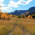 A wider doubletrack section of the Marvine Lake Trail.- Epic Fall Hikes Through the Rockies