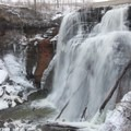 Up-close view of Brandywine Falls. Imagine it fully frozen over!- The Best Winter Waterfalls Worth Chasing