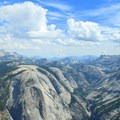 Vista looking east up Tenaya Canyon from Half Dome.- Guide to Camping in Yosemite National Park
