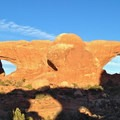 The Windows in late afternoon.- Arches National Park