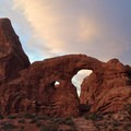 Turret Arch in the morning.- Arches National Park