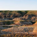Striated landscapes at Drumheller.- The Essential Alberta Road Trip
