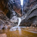 Ice Box Canyon falls, following a wet winter season.- Ice Box Canyon