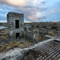 The foundation of the former three-story hotel in Metropolis.- Ghost Towns of the West