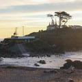At higher tides Battery Point Lighthouse is inaccessible on foot.- Redwood National + State Parks