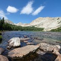 Mitchell Lake in Indian Peaks Wilderness.- Wander Among Wilderness Areas