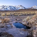 Eastern Sierras form The Rock Tub Hot Springs.- The Naked Truth About Hot Springs
