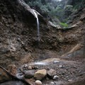 The Coal Canyon waterfall, a 20-foot falls running over a mineralized ledge.- The Complete Guide to Rancho Palos Verdes, California