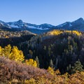 Late afternoon view of aspen and ragged peaks along the Dallas Divide Scenic Route.- OP Adventure Review December 28-31, 2015