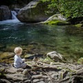 Midnight Hole is a great spot for a break. - Kid-Friendly Hikes in Great Smoky Mountain National Park