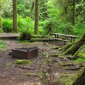 Firepits at Esswine Group Campground.- Mountain Loop Highway Itinerary