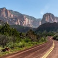 The beginning of the Kolob Canyon Scenic Drive at Zion National Park.- The Ultimate Utah National Parks Road Trip