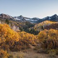 View just after sunset along the Dallas Divide Scenic Route.- 30 Spectacular Fall Adventures in Colorado