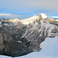 View of Half Dome and Tenaya Canyon from Glacier Point.- Winter in Yosemite National Park