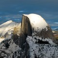 Half Dome, from Glacier Point on skis.- 10 Beautiful Cross-Country Ski Trails
