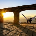 Sunset at Knapp's Castle.- The Uninhabited West: Ghost Towns and Mines