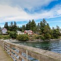 View to Olga from the pier.- San Juan Islands